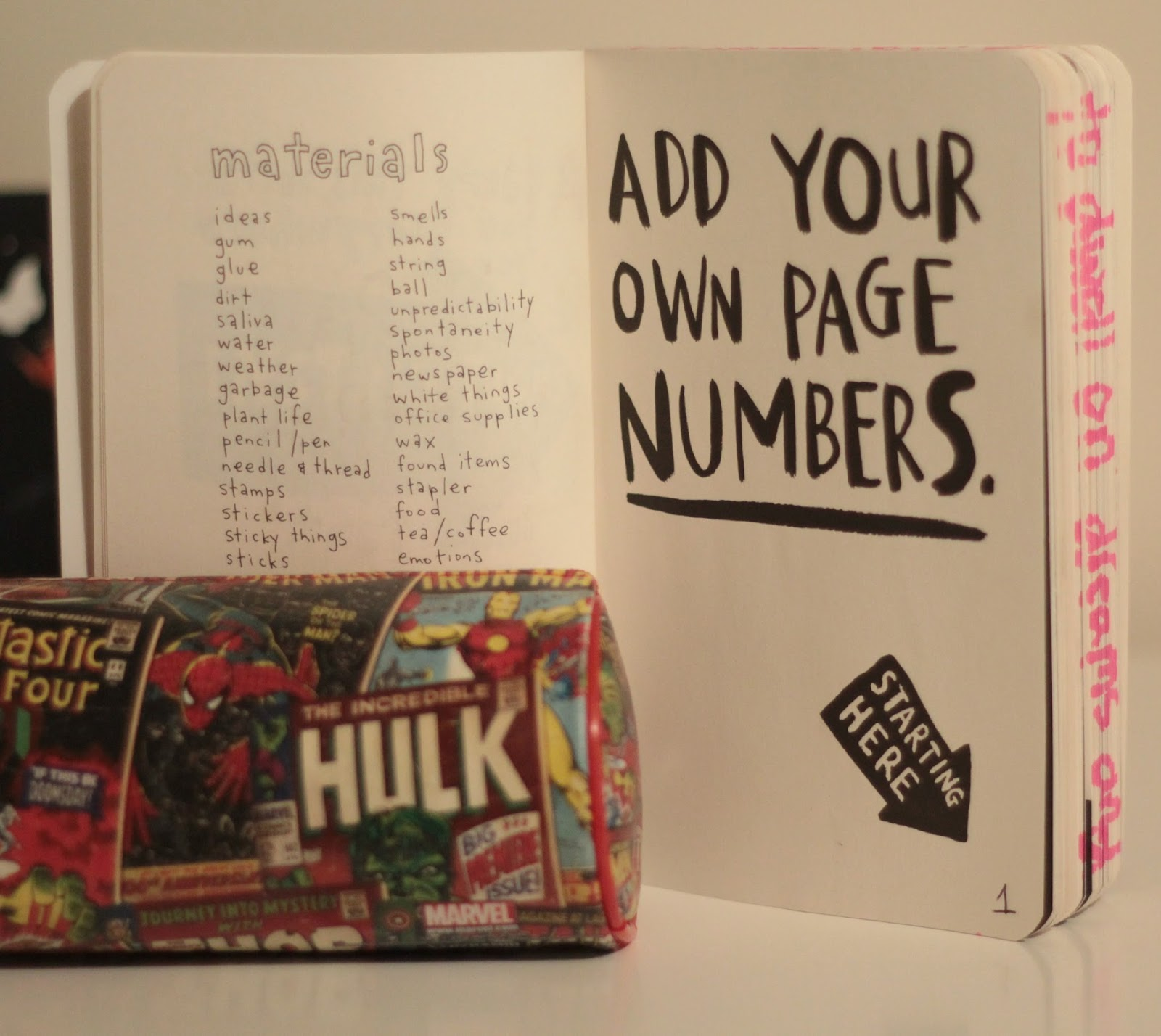 add your own page numbers wreck it journal