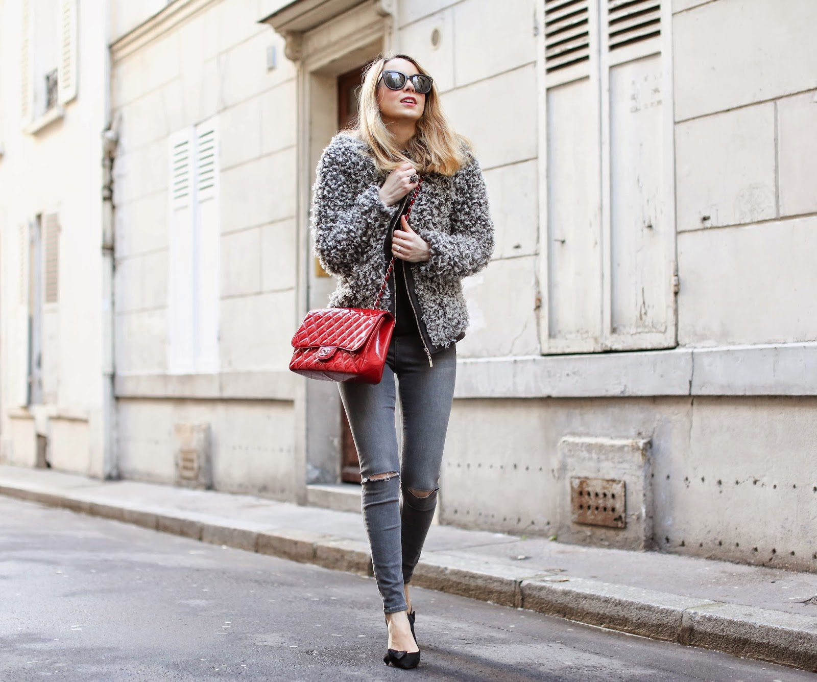 chanel, fluffy jacket, topshop, isabel marant, fashion blogger, streetstyle, céline