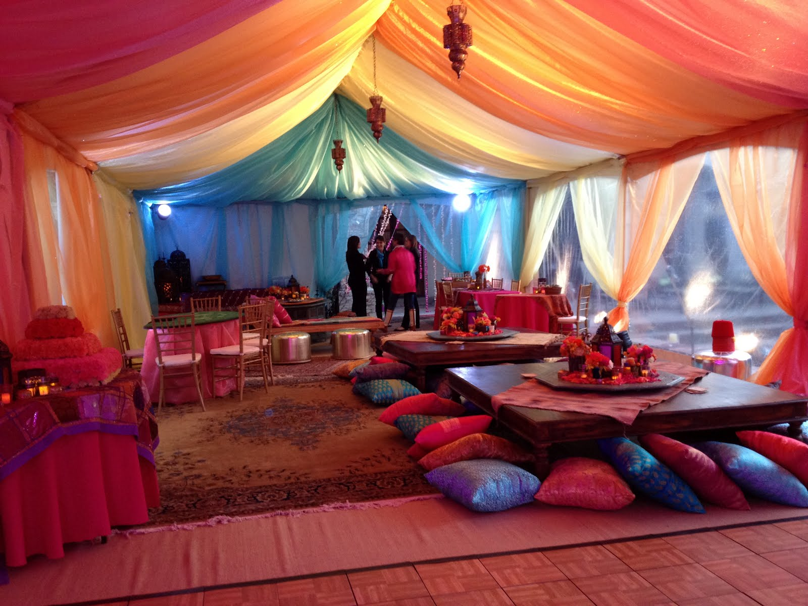 Moroccan party for Arabian tent decoration