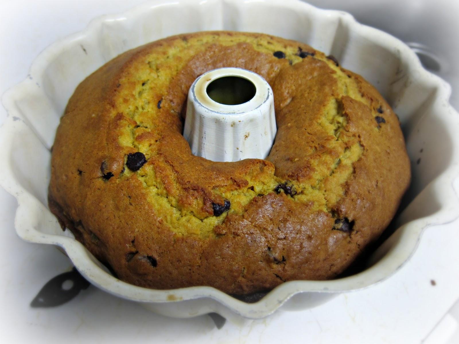 Banana Wonder: Pumpkin-Mahlepi Chocolate Olive Oil Bundt Cake