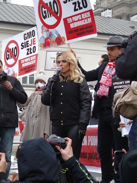"""Doda na manifestacji """"Weto dla GMO"""""""