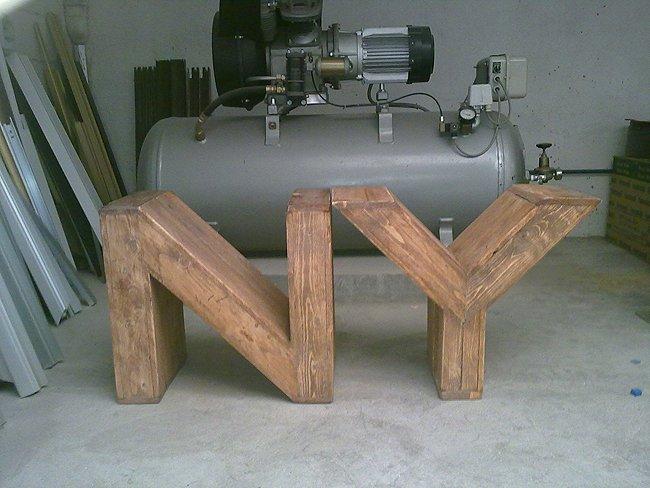 Neo arquitecturaymas decorar con letras de madera - Letras de madera para decorar ...