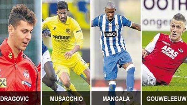Dragovic, Musacchio, Mangala, Gouweleeuw y Laporte son algunos de los nombres
