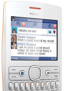 Nokia Asha 205 Ponsel Murah QWERTY Dengan Tombol Facebook