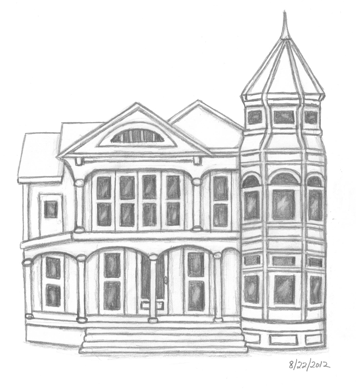 mansion sketch