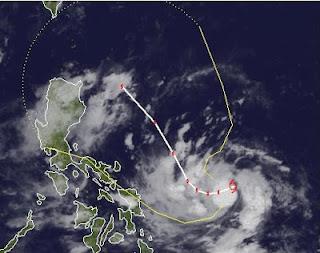 Tropensturm JELAWAT (LAWIN) bei den Philippinen ist fast schon ein Taifun, Jelawat, Lawin, Philippinen, Taiwan, aktuell, Satellitenbild Satellitenbilder, Vorhersage Forecast Prognose, Sturmflut Hochwasser Überschwemmung, September, 2012, Taifunsaison 2012,