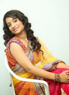 Actress Santhoshi Sharma Latest  Pictures in Half Saree at Toll Free No 143 Audio Launch  36.jpg