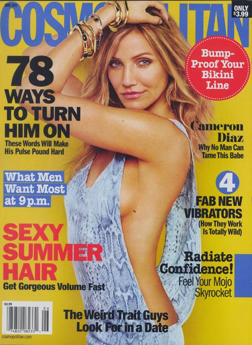 cameron diaz cosmo cover 2011. Cameron Diaz Does Cosmopolitan