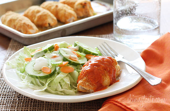 Stuffed Buffalo Chicken Breasts | Skinnytaste