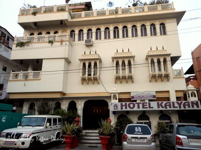 Front view, Hotel Kalyan, Jaipur, Rajasthan