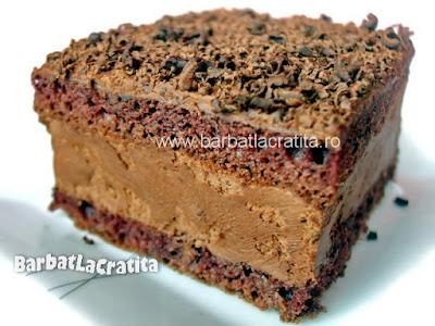 Prajitura cu crema de ciocolata ganache reteta