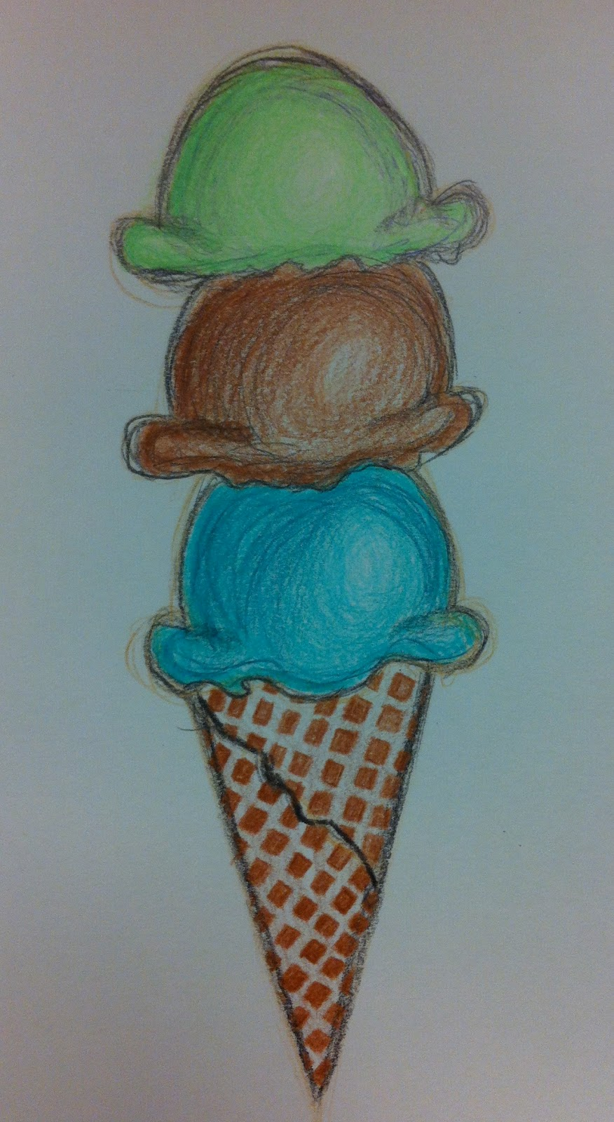 Angela Anderson Art Blog Ice Cream Colored Pencil Drawings Kid S