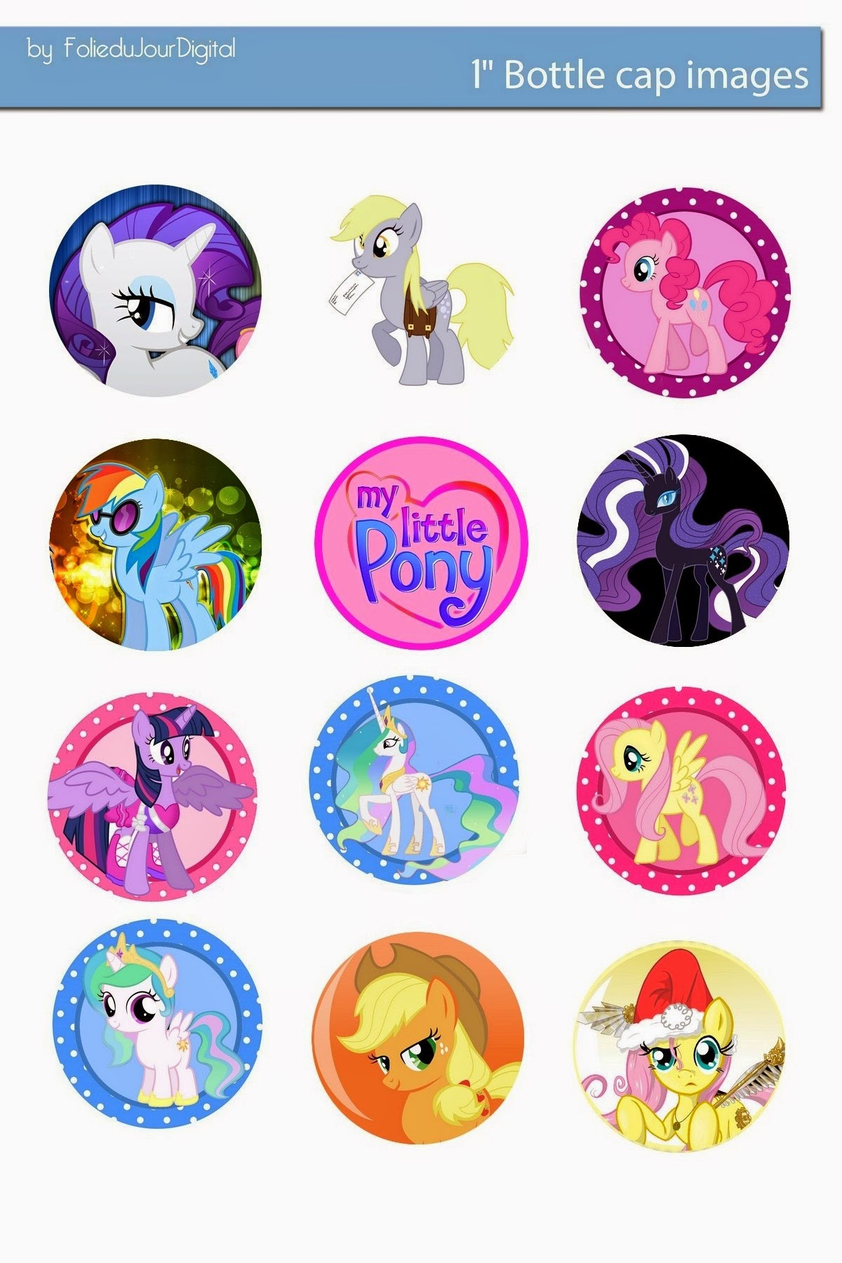 free bottle cap images my little pony free digital bottle