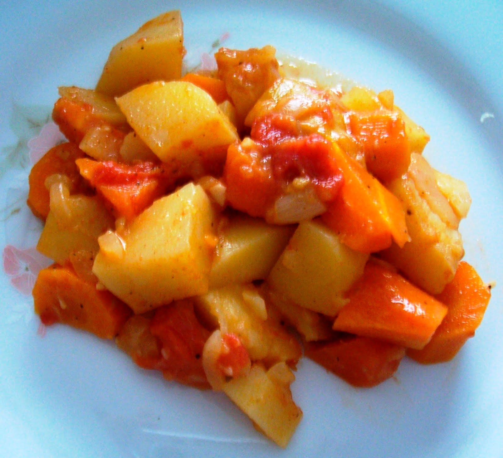 Taj n de zanahorias patatas y lim n receta asopaipas for Cocinar zanahorias