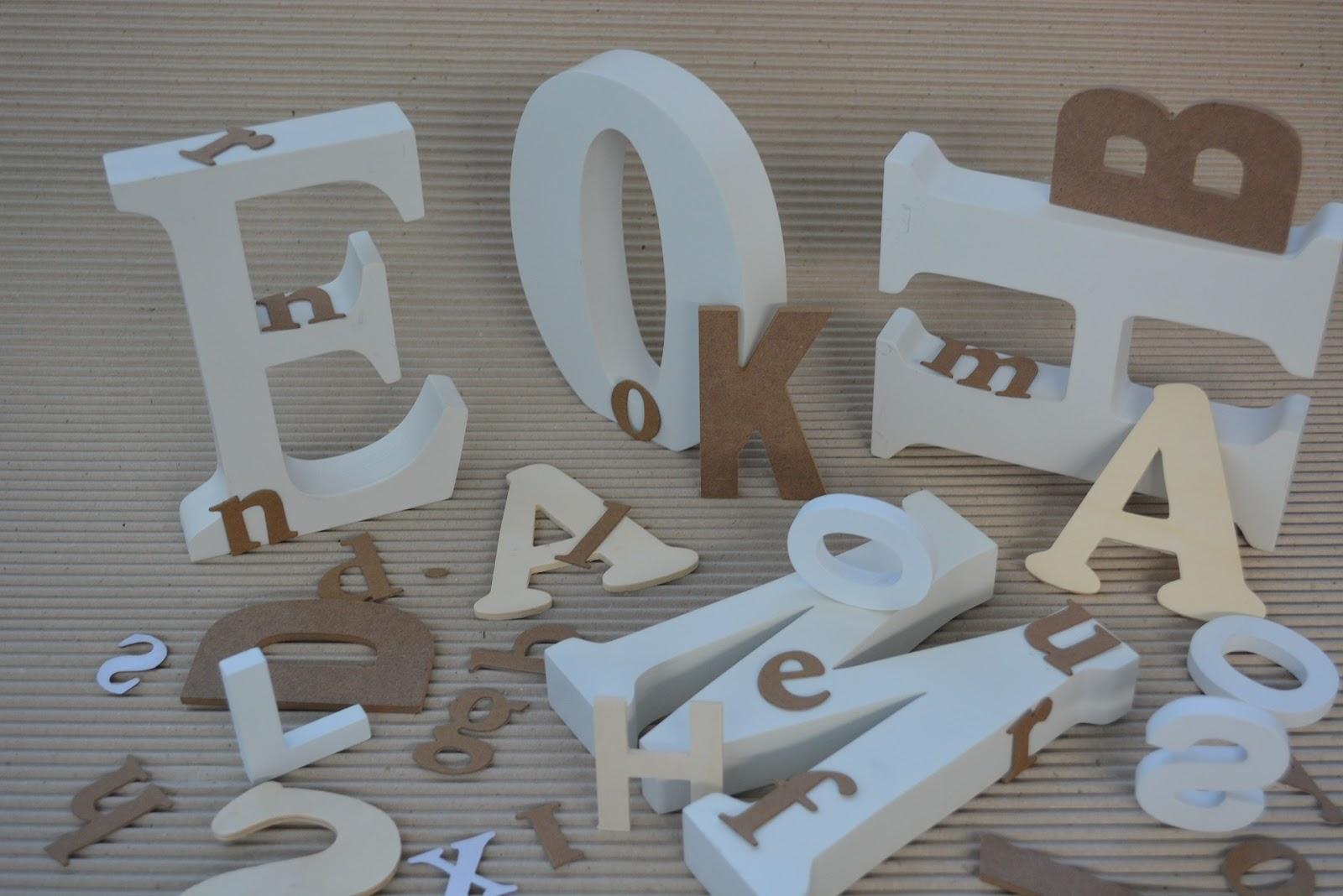 Decoracion Letras Carton ~ decoracion con letras carton