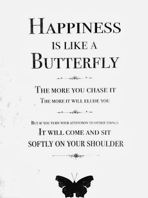 Happiness is like butterfly
