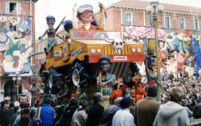 Nice Carnival floats