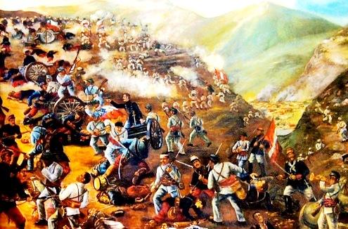 Dibujo de la Batalla de Tarapacá