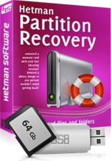 تنزيل برنامج لاستعاده الملفات البيانات و الصور المحذوفه من الذاكرة بعد الفورمات download Hetman Partition Recovery v 2.0