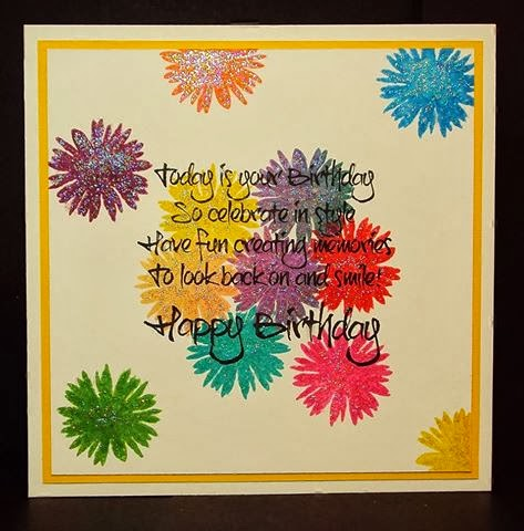 flower stamps - original birthday verse