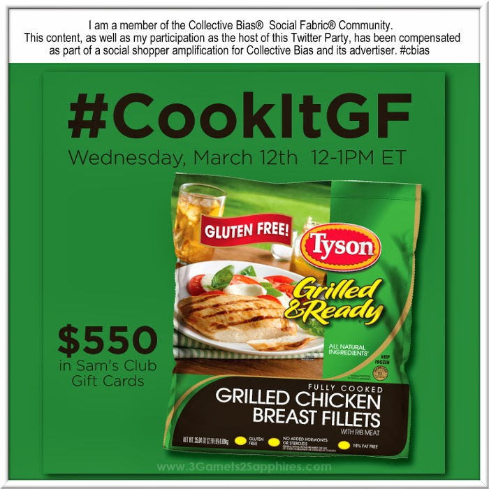 Ad:  Tyson #CookItGF Twitter Party - March 12th at 12pm EST #shop #cbias