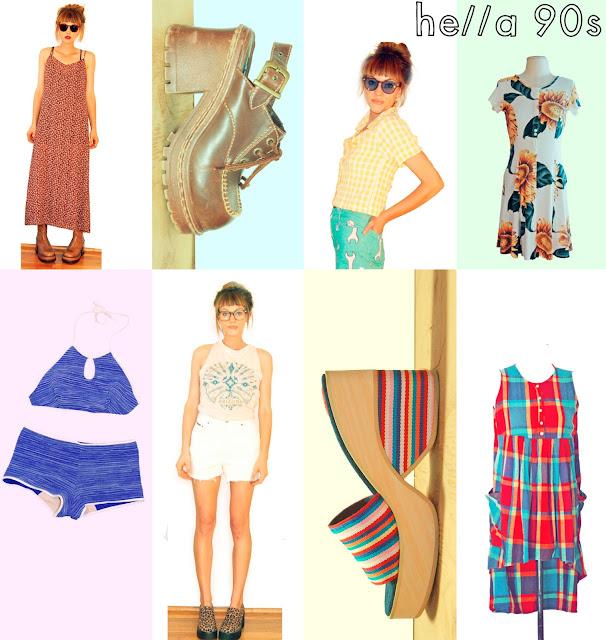 #fashion #90s #1990s #platform #chunkyheel #maxi #baggy #dresses #idlized #vintage #etsy