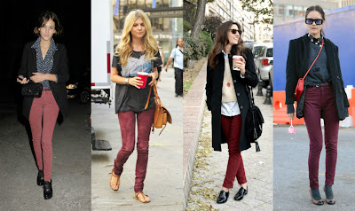 How to style wear burgundy jeans candie dolls for What goes with burgundy shirt