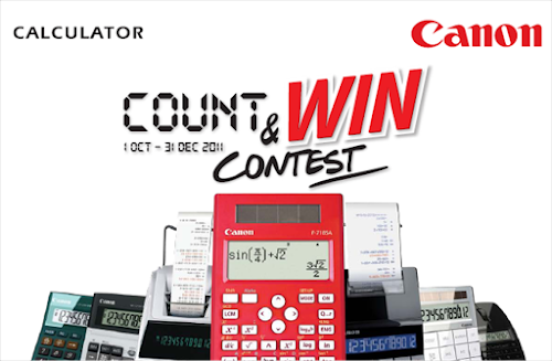 Canon Calculator 'Count & Win' Contest