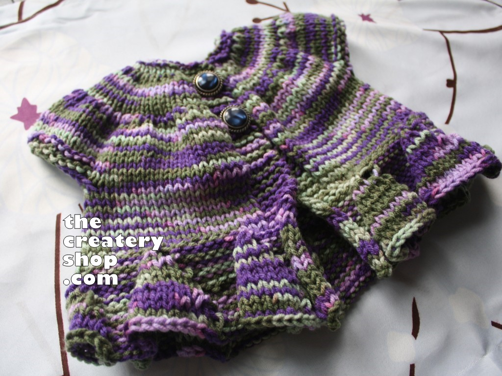 The Createry Shop: Baby Bolero Sweater Seamless Knit In One Piece Knitting Pa...