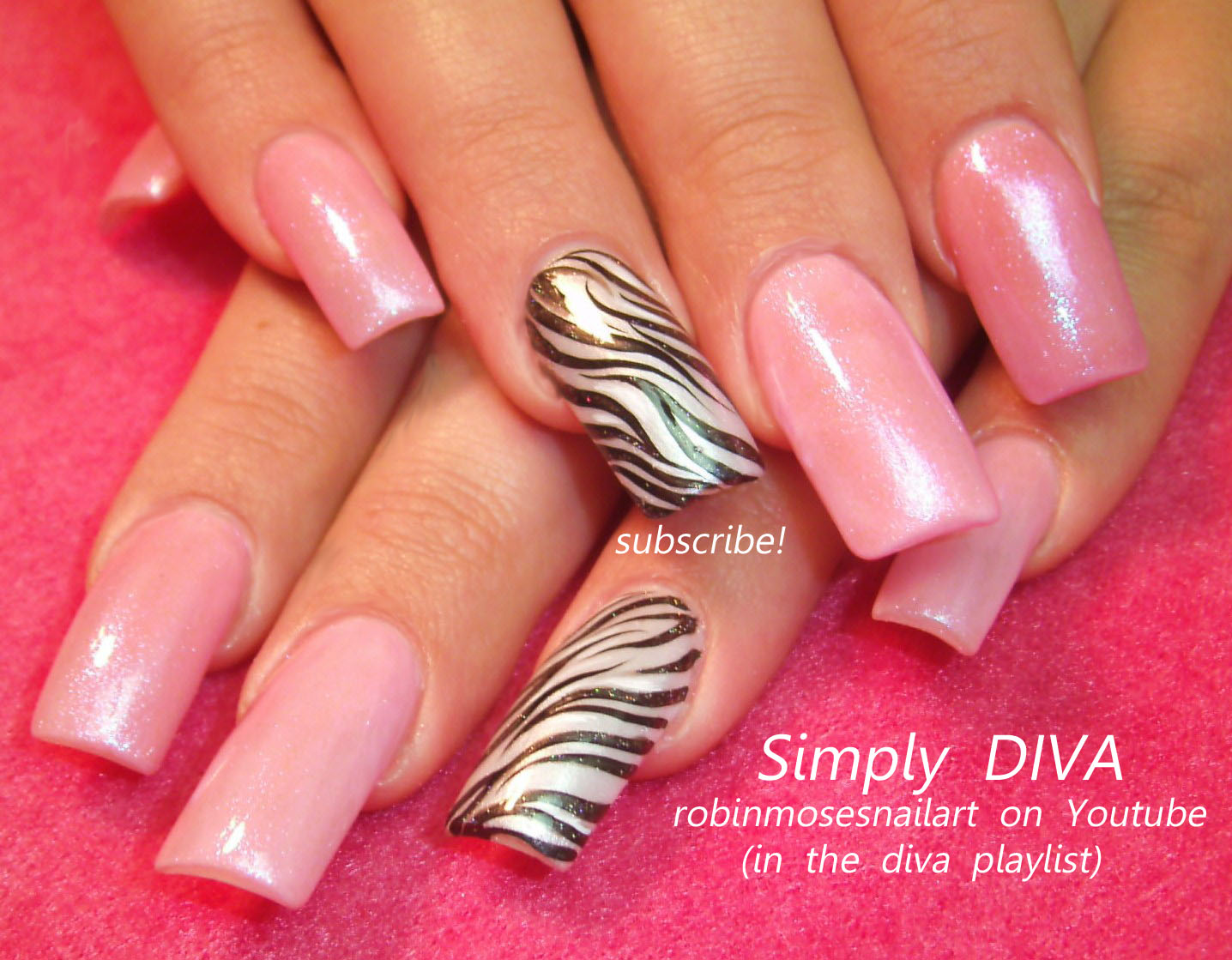The Charming Pink zebra print nail designs Digital Photography