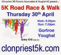 Clonpriest 5k in E.Cork