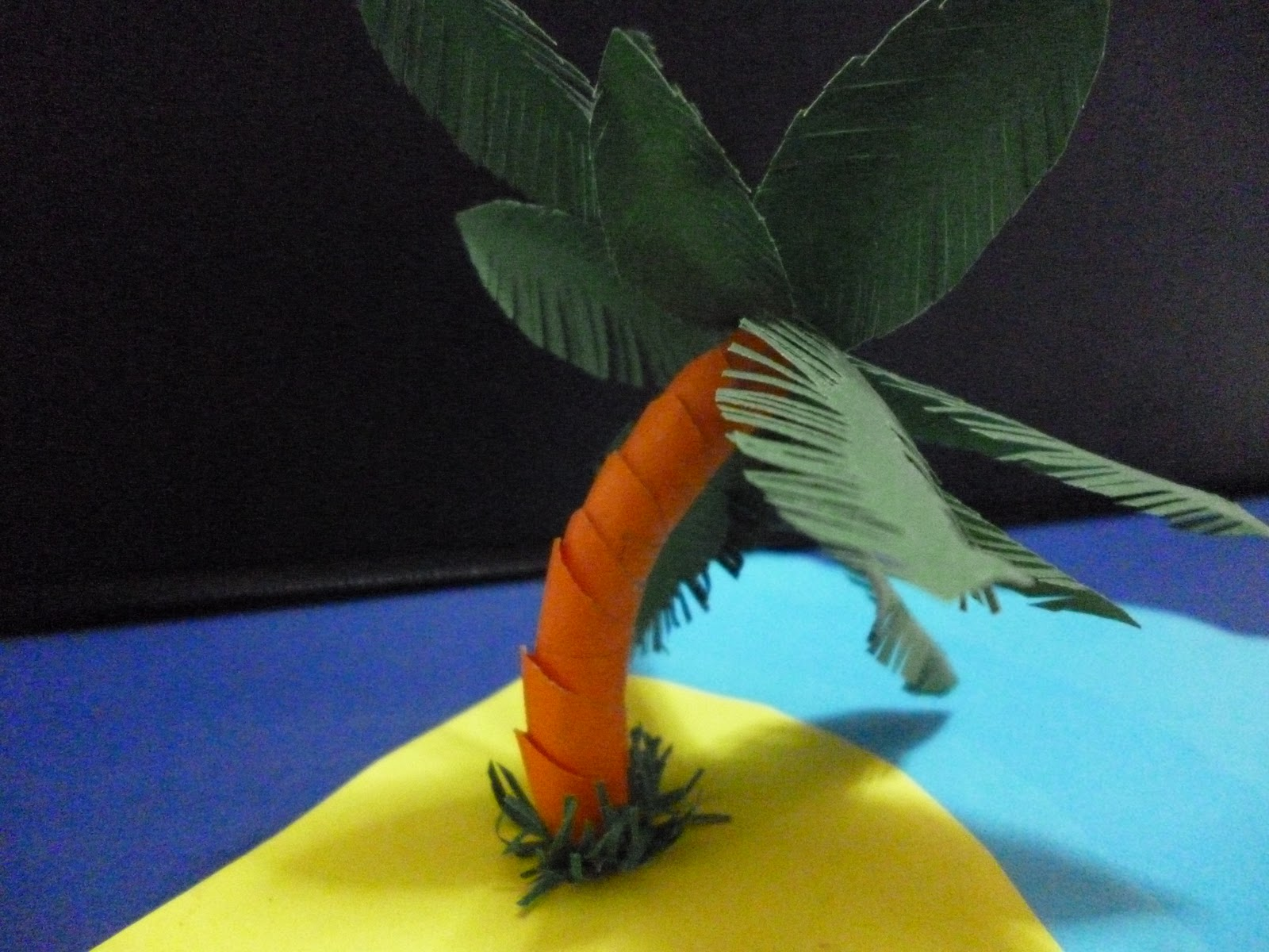 Como hacer palmeras de papel how to make a paper palm c - Como hacer una palmera artificial ...