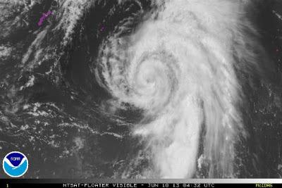 Imágen satélite tormenta tropical Yagi, 09 de Junio 2013