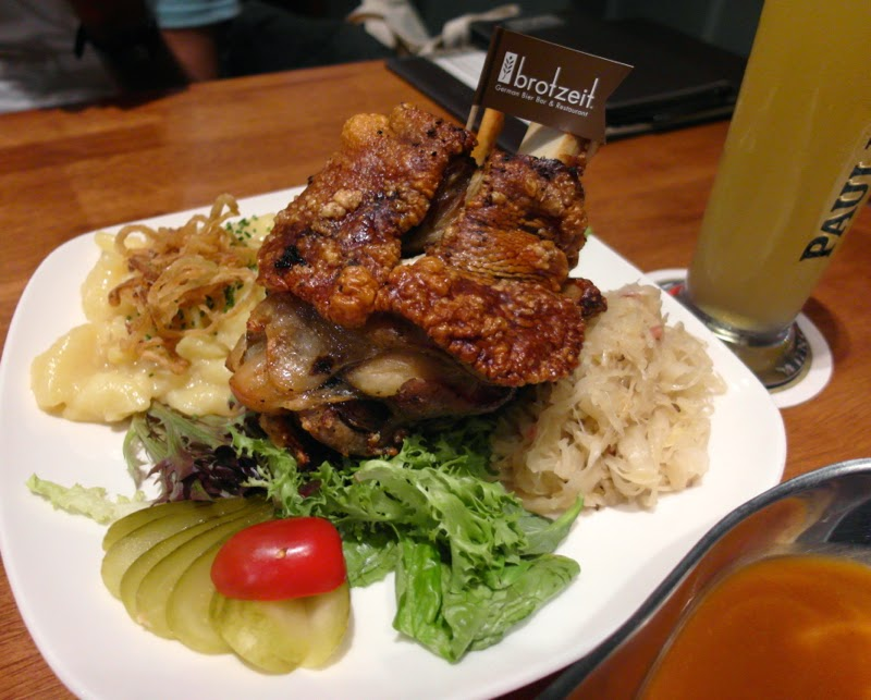 Brotzeit Singapore Jurong East Westgate Pork Knuckle Mixed Beer Longdrink