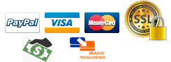 Cash * Credit Cards * PayPal * Bank Transfer
