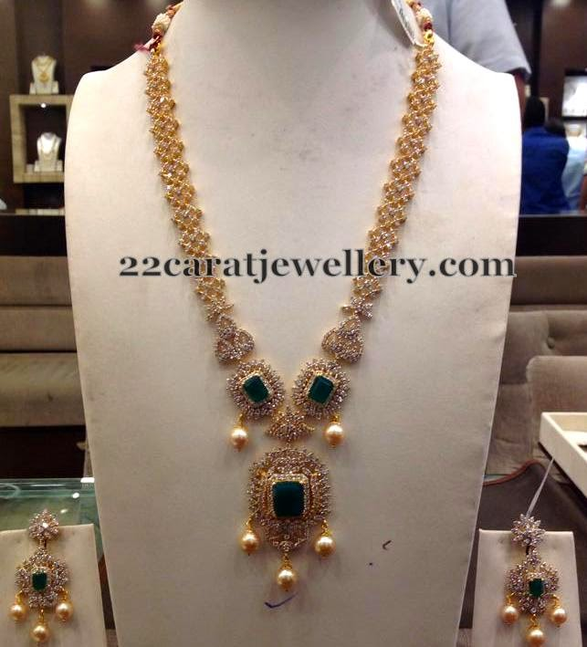 80 Grams CZ Long Chain Jewellery Designs