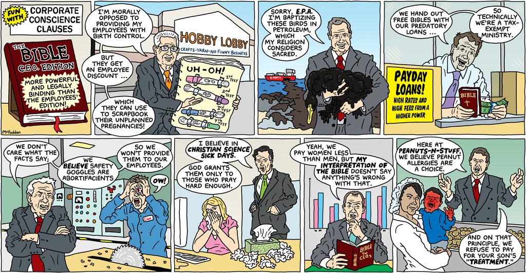 Mean Comic Strip on Religious Freedom Ran in NY Times