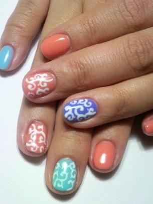 Chic nail art ideas for summer world of fashion - Nail art chic ...
