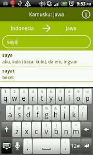 Aplikasi Android Kamusku Jawa Indonesia