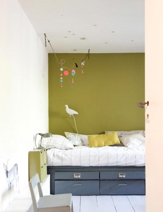 On ose un mur en couleur - Couleur mur chambre enfant ...