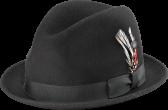Classic stingy brim fedora hat