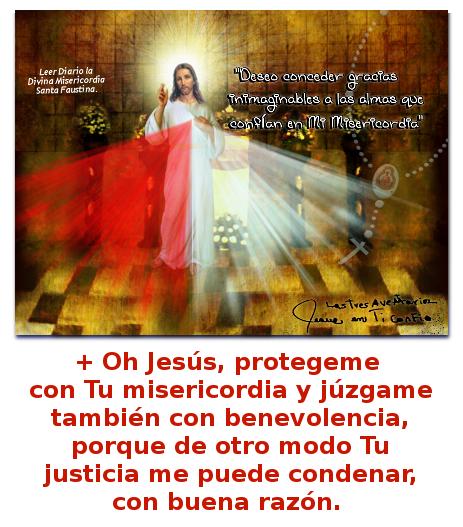imagen con oracion a jesus misericordioso para pedir proteccion