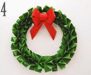Haz una corona de navidad con papel lodijoella - Coronas navidenas faciles ...