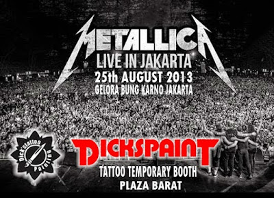 tattoo temporary metallica concert jakarta