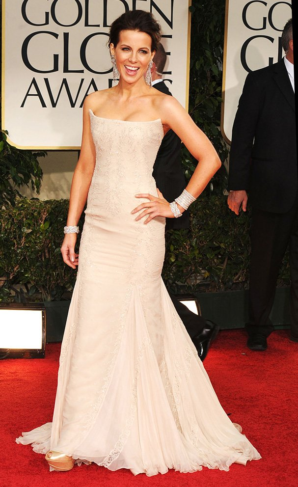 Kate Beckinsale. One of the few nude dresses I actually liked.