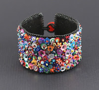 Sarah's beaded/sequined cuff
