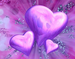 love pictures: 3 hearts in pink color
