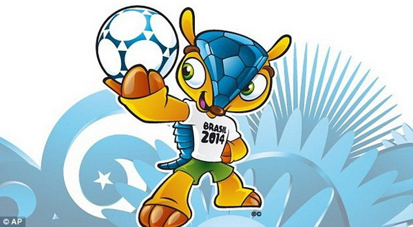 Armadillo Jadi Maskot Piala Dunia 2014