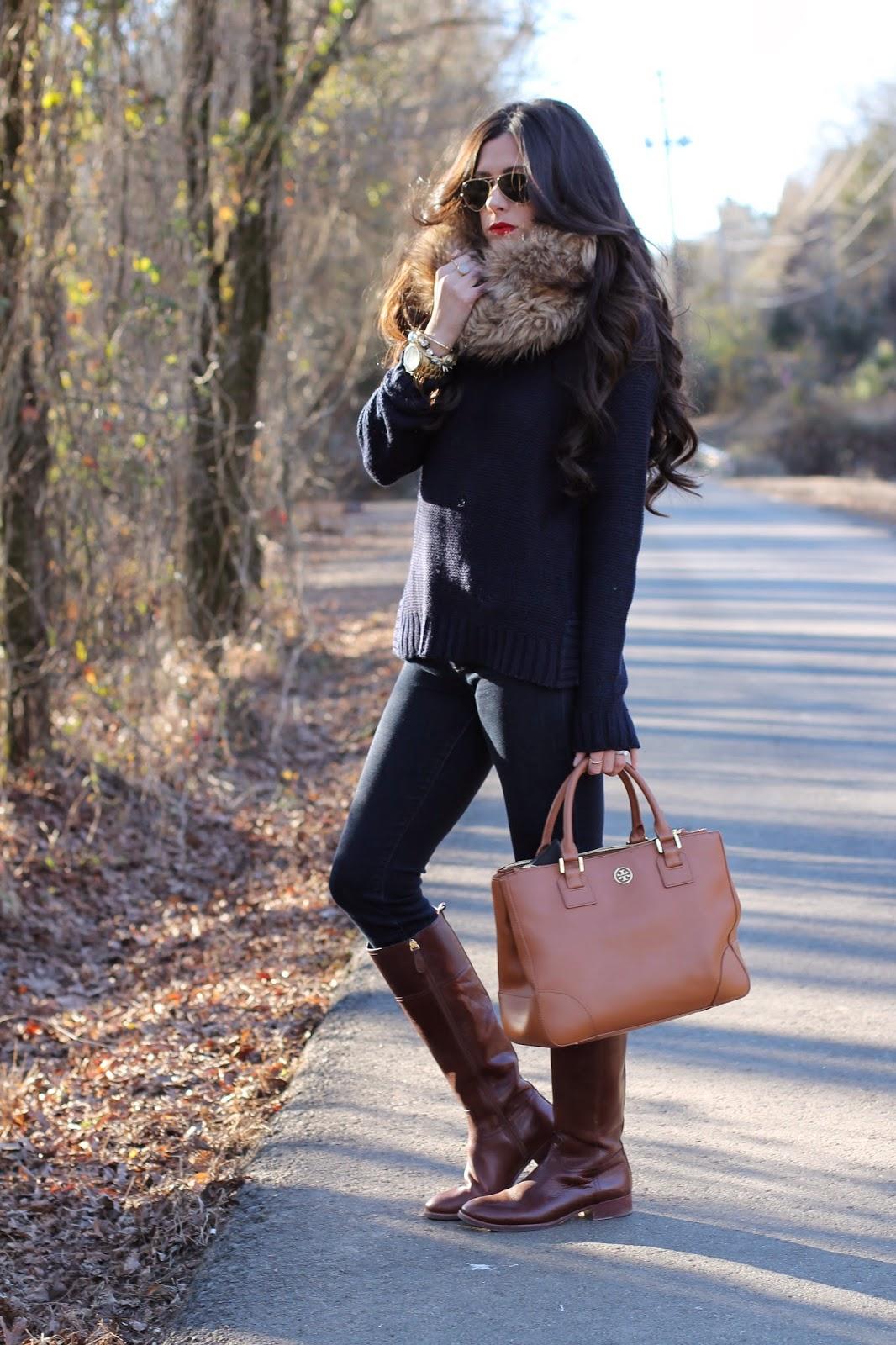 hair extensions, bellami hair, michael kors watch gold, fur snood, tory burch, tory burch boots, tory burch purse, kiernan riding boot, rayban aviators, fashion blog, style blog, winter 2014 trends