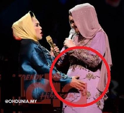 Baby bump Siti Nurhaliza diusap oleh Hetty Koes Endang
